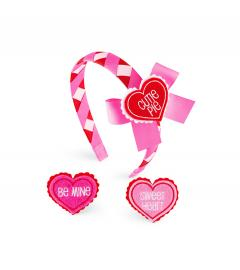 【FINALSALE】Heart Snap Headband